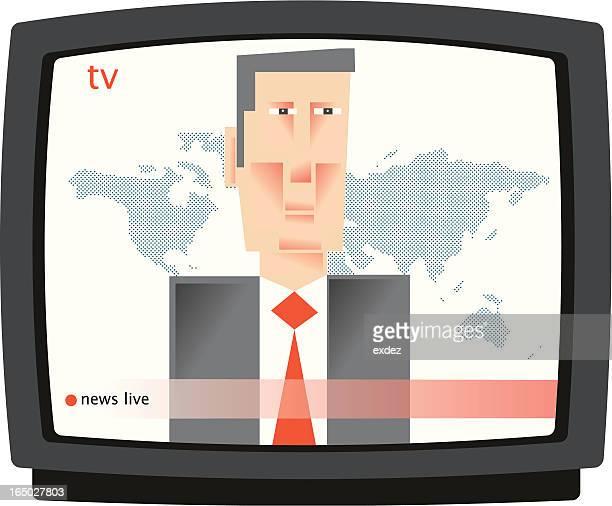 ilustraciones, imágenes clip art, dibujos animados e iconos de stock de lector de noticias - actor