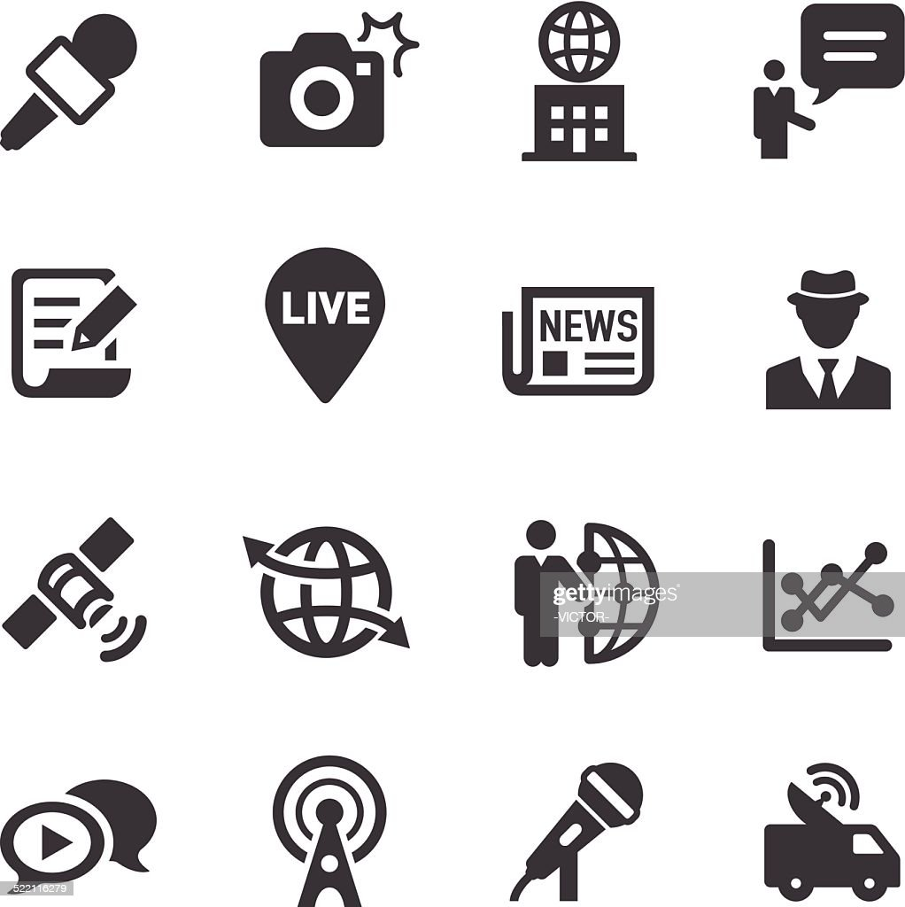 News Reporter Icons - Acme Series