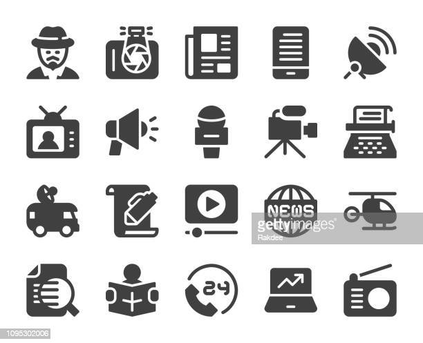 記者 - アイコン - ルポルタージュ点のイラスト素材/クリップアート素材/マンガ素材/アイコン素材