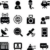 News reporter icons