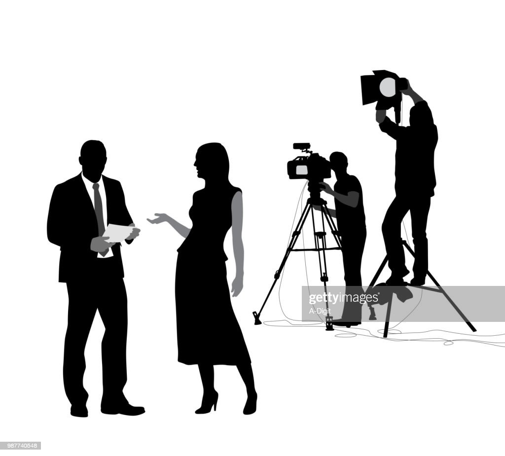 News Shoot Preparation : stock illustration