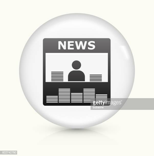 News Stand icon on white round vector button