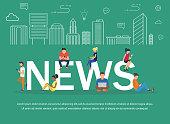 News vector banner design concept.
