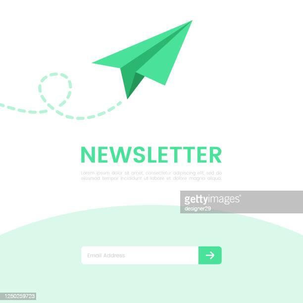 newsletter banner flat design. - e mail stock illustrations