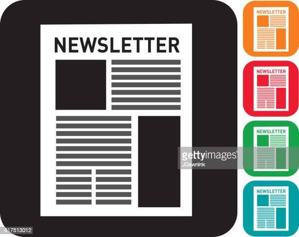 newsletter icon set  in multiple colors - newsletter stock illustrations