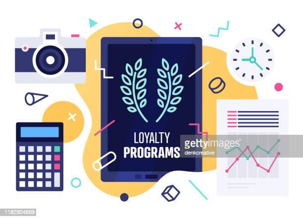 newsletters & loyalty programs vector illustration design - newsletter stock illustrations