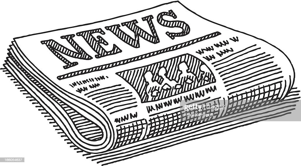 Newspaper Drawing : Stock Illustration