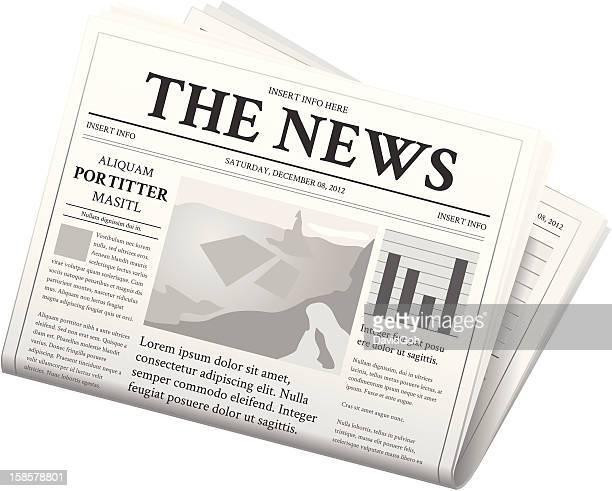 ilustrações, clipart, desenhos animados e ícones de jornal-dobradas - jornal