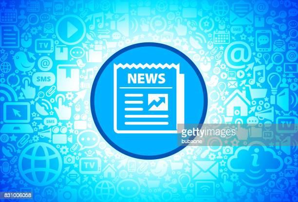 zeitung-symbol auf internet-technologie-hintergrund - piktogramm collage stock-grafiken, -clipart, -cartoons und -symbole