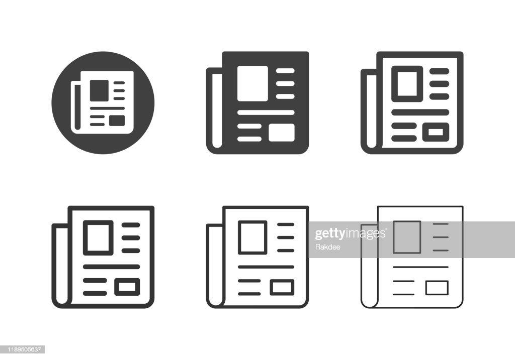 Icone dei giornali - Serie Multi : Illustrazione stock