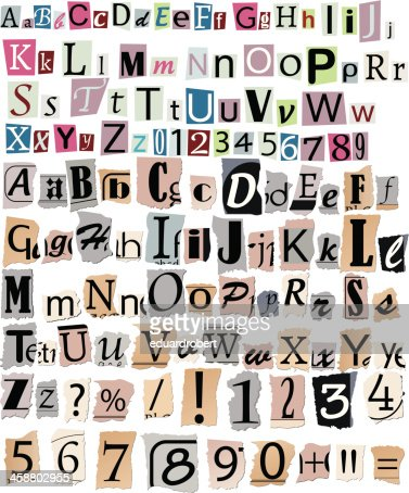 letters on a crucifix newspaper letters and numbers vector thinkstock 3465