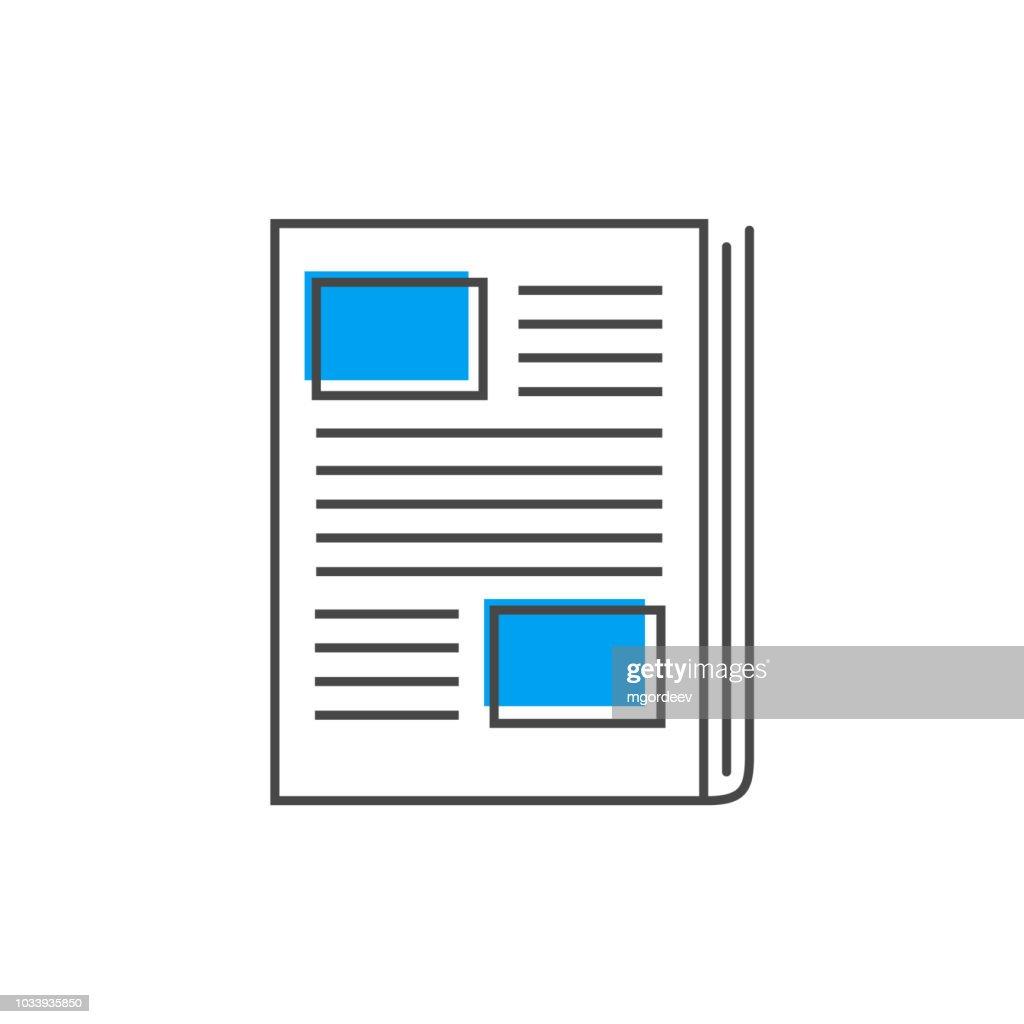 Newspaper line icon. News symbol, vector logo