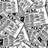 Newspaper monochrome vintage seamless background
