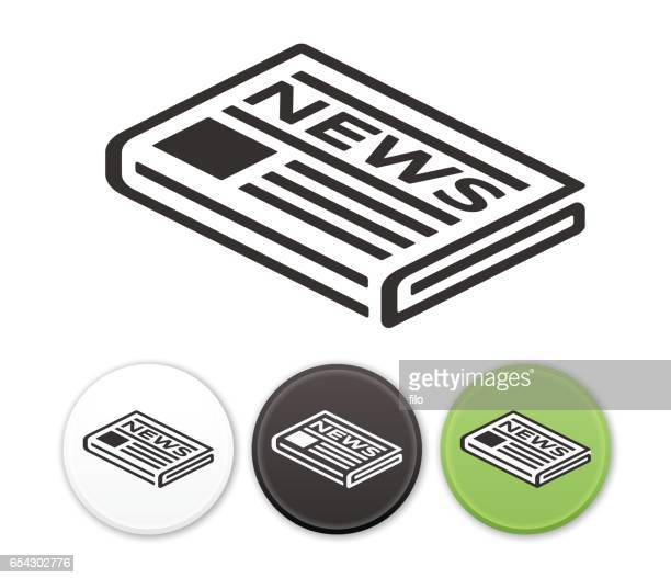newspaper news icon symbol - press conference stock illustrations, clip art, cartoons, & icons