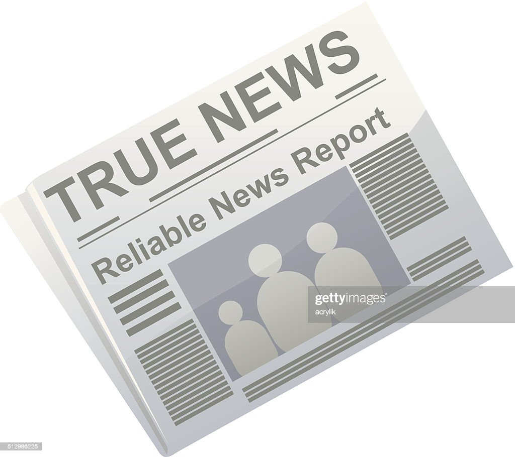 Newspaper of truth vector