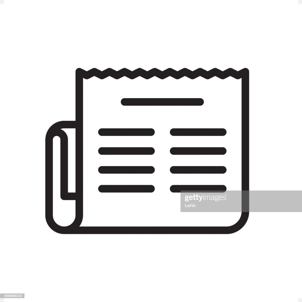 Newspaper Outline Icon Pixel Perfect Vector Art