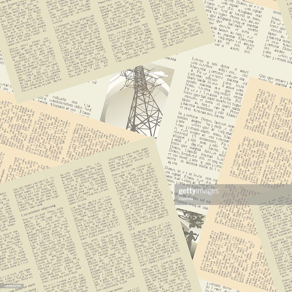 newspaper pattern seamless