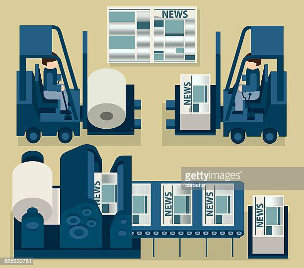 newspaper - printout stock illustrations