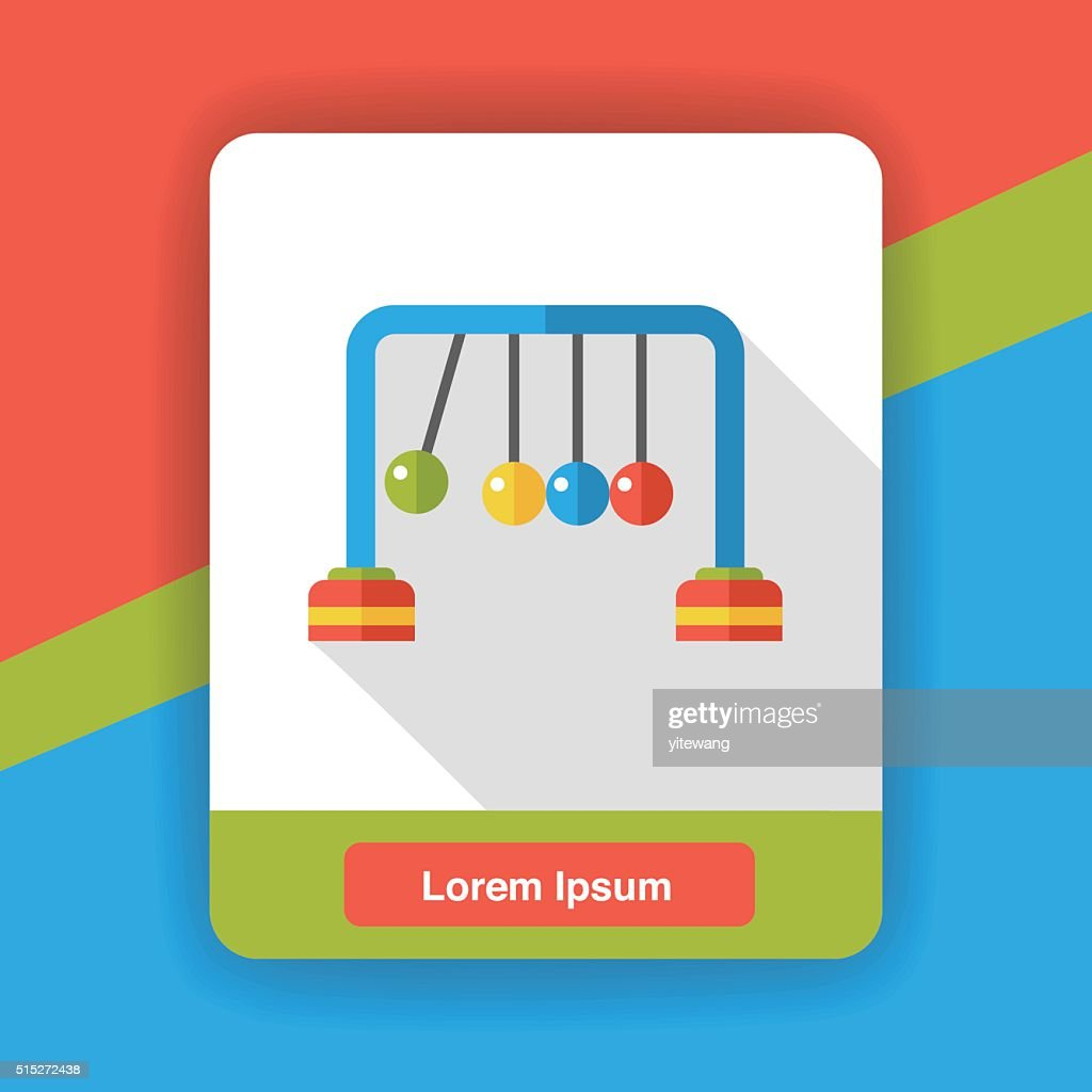 newton ball flat icon vector art getty images