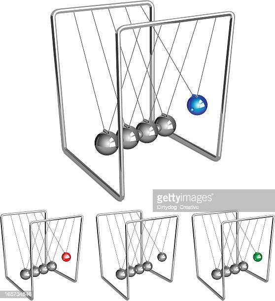 newtons cradle business metaphor - desk toy stock illustrations, clip art, cartoons, & icons