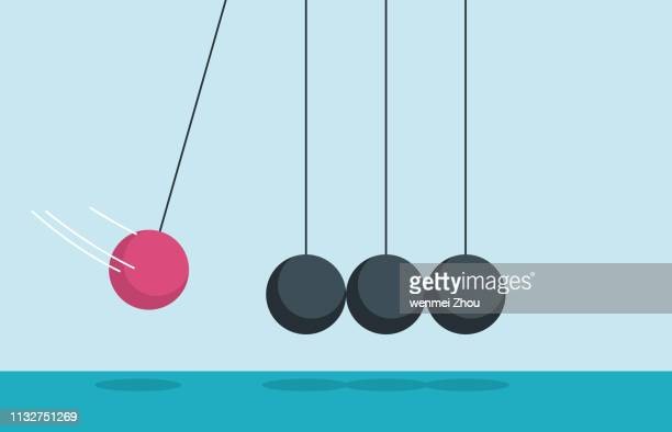 newton's cradle - swinging stock illustrations