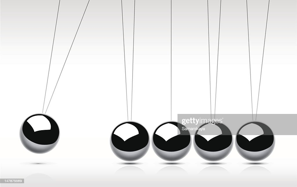 Newton's Cradle : Stockillustraties
