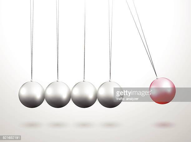 newton's cradle - physics stock illustrations
