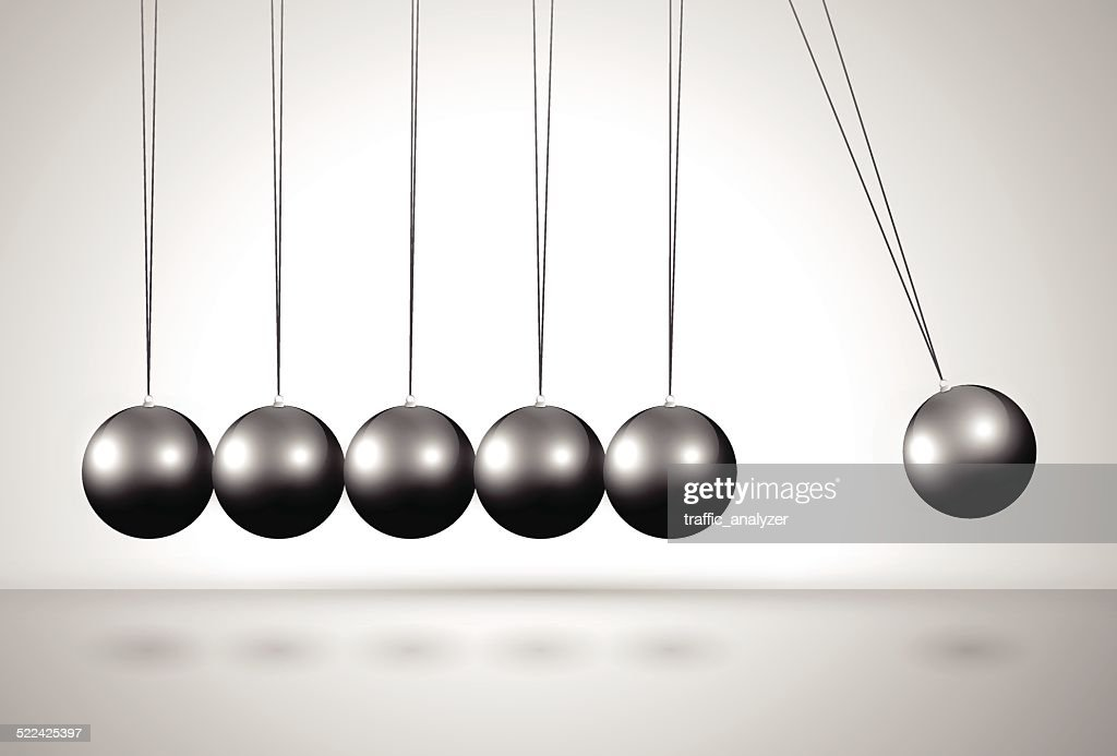 Newton's cradle : stock illustration