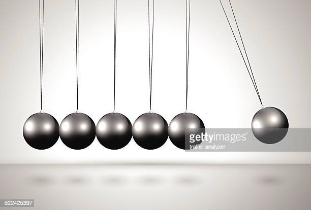 newton's cradle - desk toy stock illustrations, clip art, cartoons, & icons