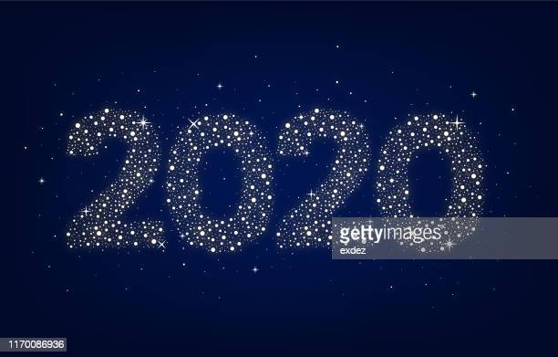 newyear 2020 - 2020 stock illustrations