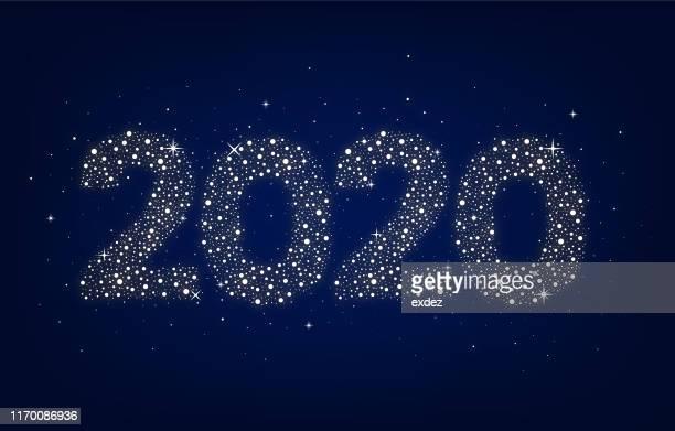 illustrazioni stock, clip art, cartoni animati e icone di tendenza di capodanno 2020 - 2020