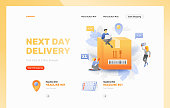 Next Day Delivery Website Header