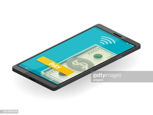 nfc-pay-tv - amerikanische währung stock-grafiken, -clipart, -cartoons und -symbole
