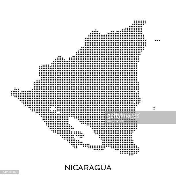 Nicaragua dot halftone pattern map