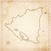 Nicaragua map in retro vintage style - old textured paper