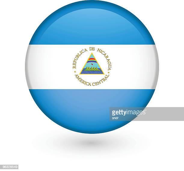 Nicaraguan flag vector button