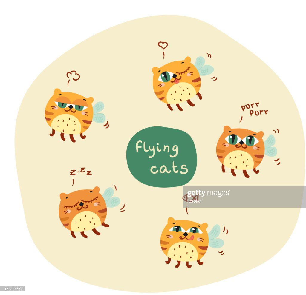 Nice flying cats
