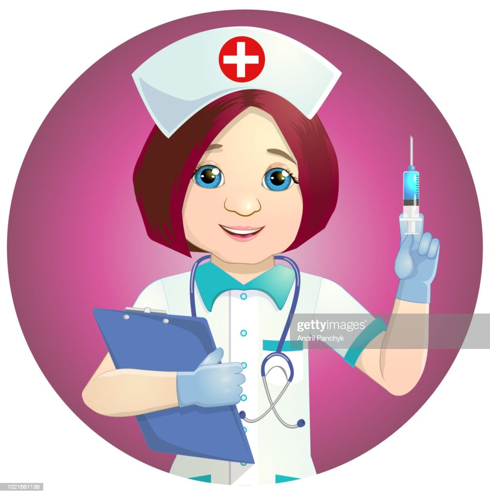 Nice nurse with a syringe