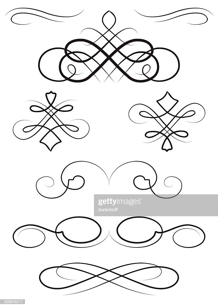 nice ornaments elements