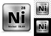 Nickel Square Element Background Set
