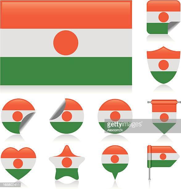 Niger flag set