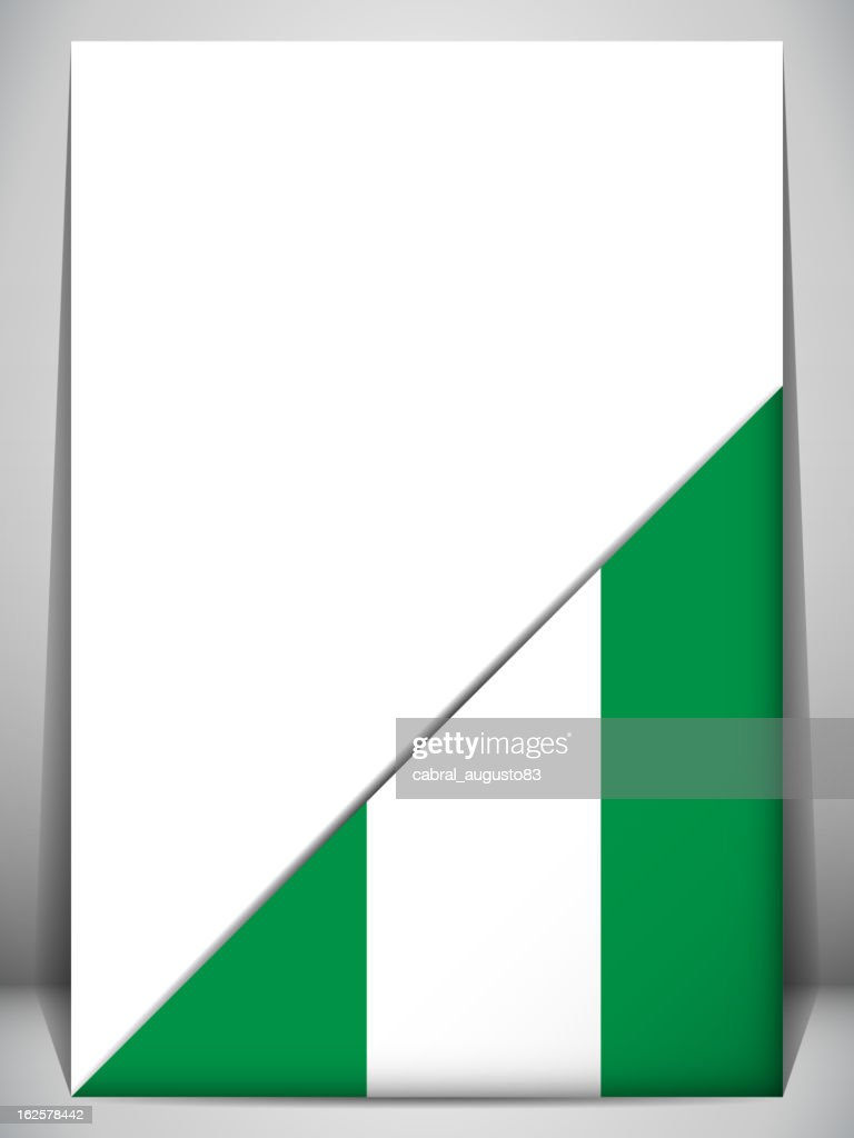 Nigeria Country Flag Turning Page