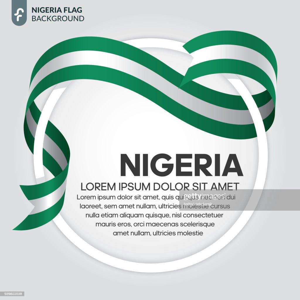 Nigeria flag background