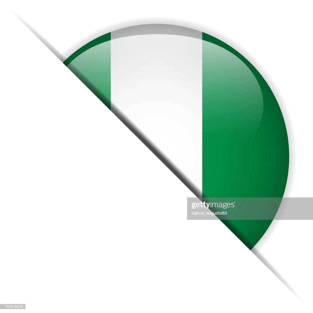 Nigeria Flag Glossy Button Hidden
