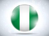 Nigeria Flag Glossy Button