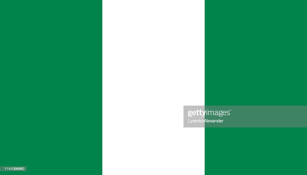 Nigeria flag icon in flat style. National sign vector illustration. Politic business concept.