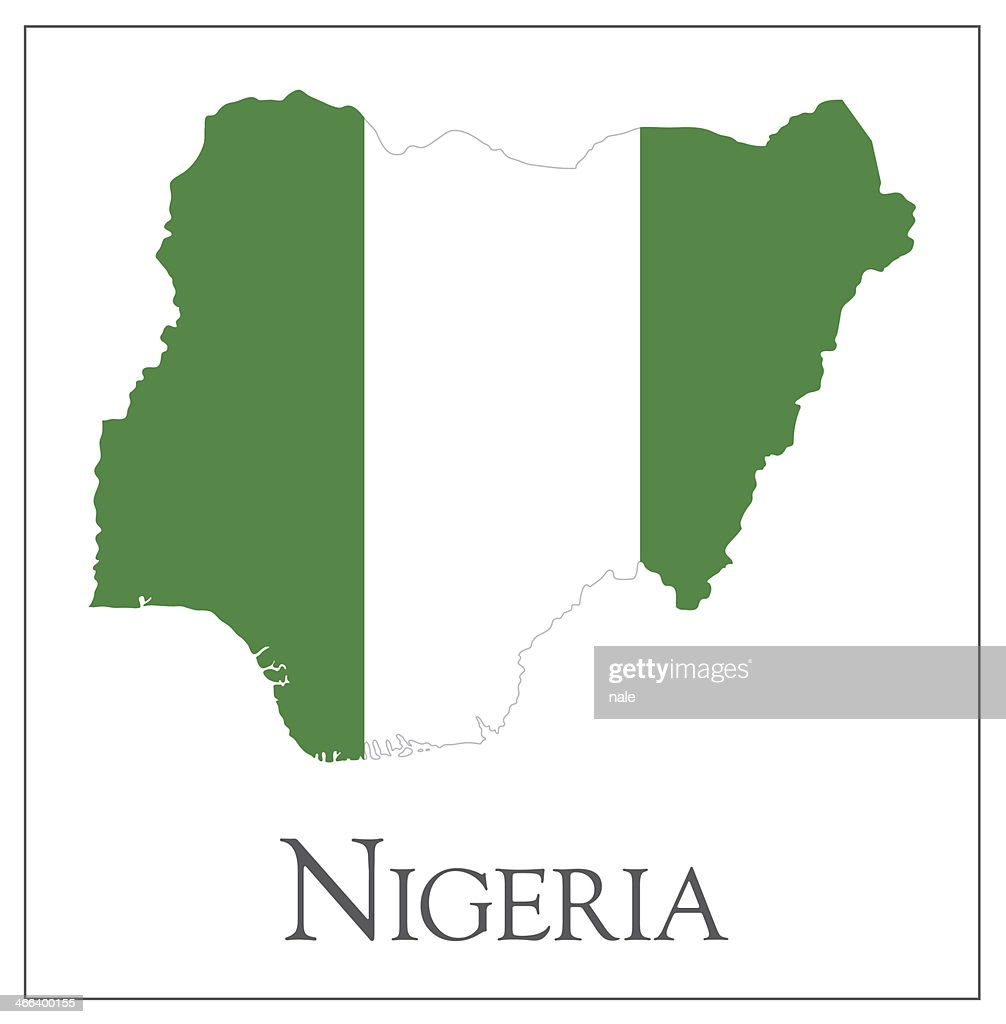 Nigeria flag map