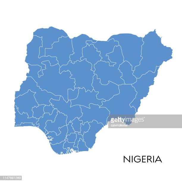 nigeria map - nigeria stock illustrations