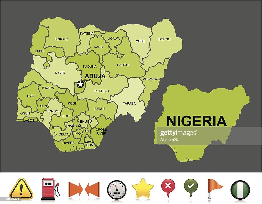 Nigeria navigation map