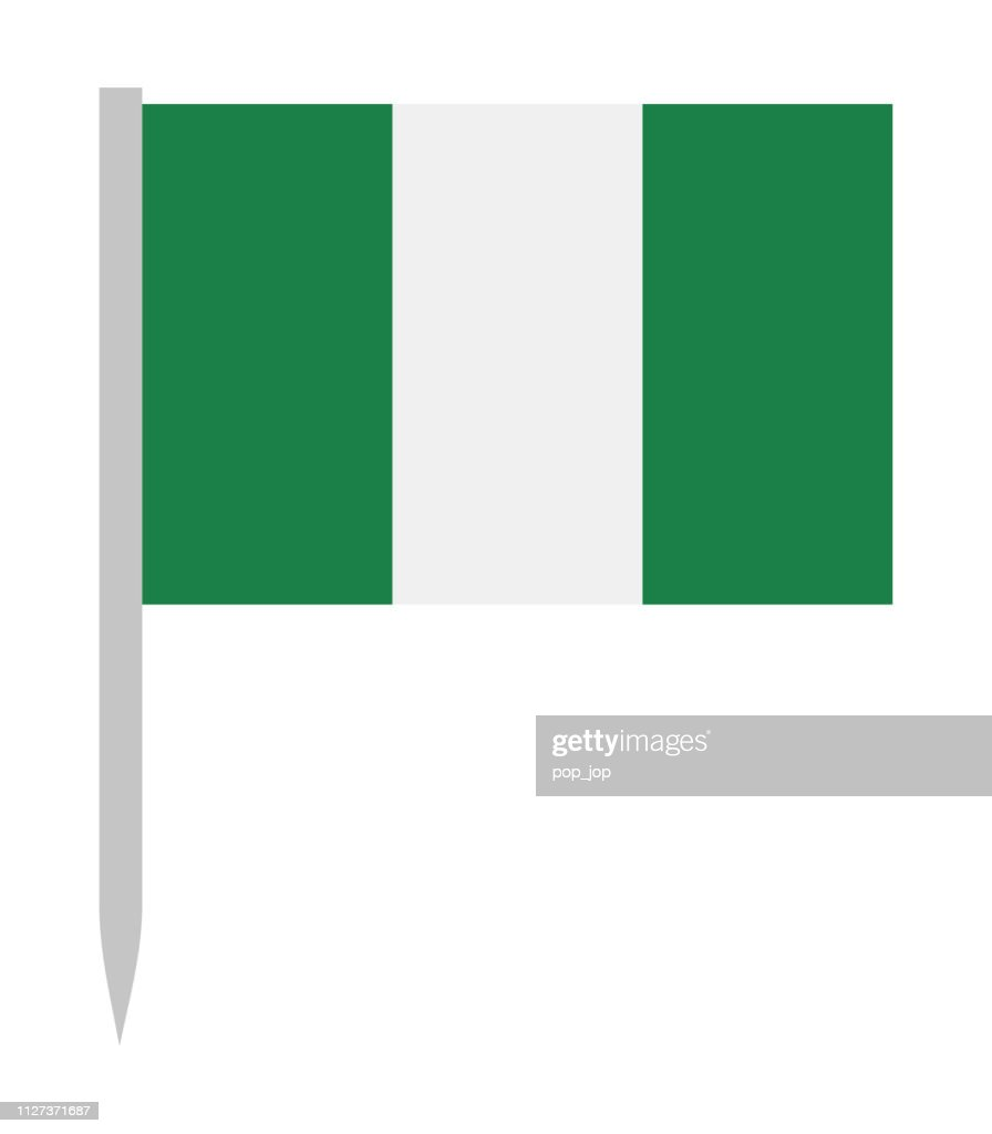 Nigeria - Vector Flag Pin Flat Icon